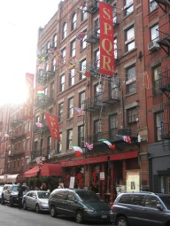 Mulberry Street in Little Italy, New York City