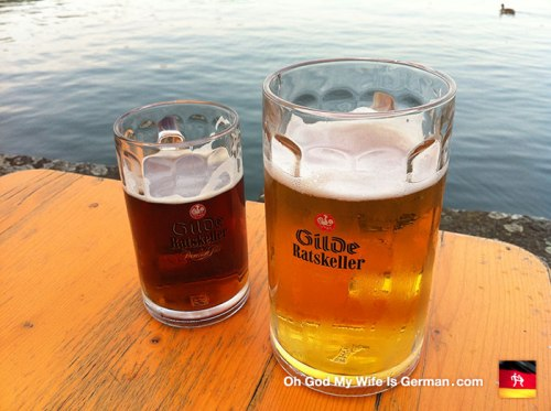 gilde ratskeller beers on the hannover maschsee