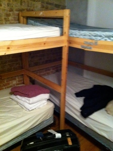 Our bunk beds in the hostel in New York City