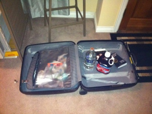 Packing for my flight to New York City