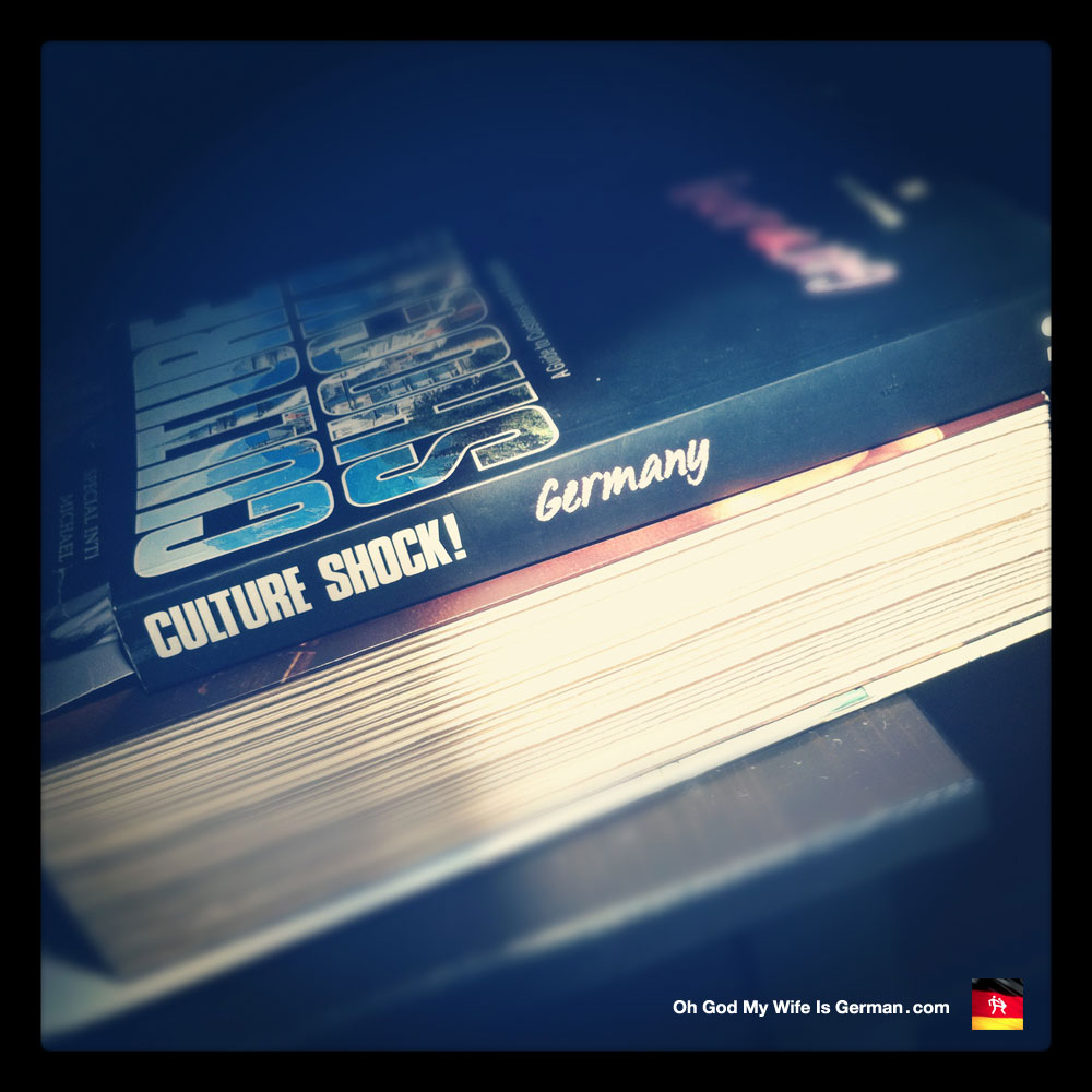 Book on night stand Culture Shock! Germany