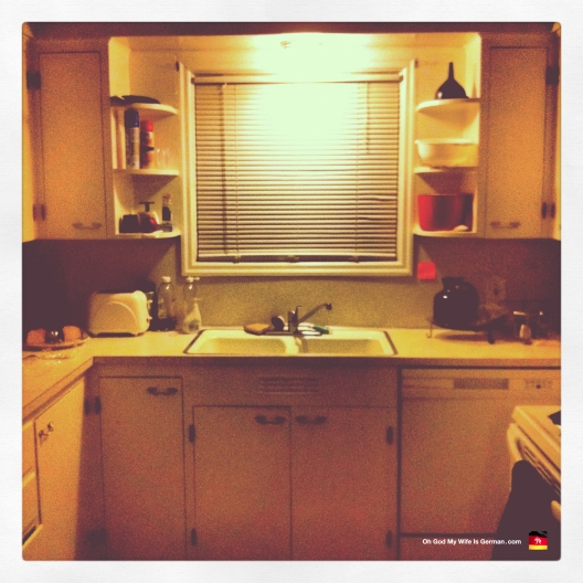 Our kitchen — straight out of the 1970s