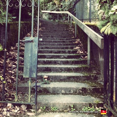 Old staircase, Mt. Tabor, Oregon