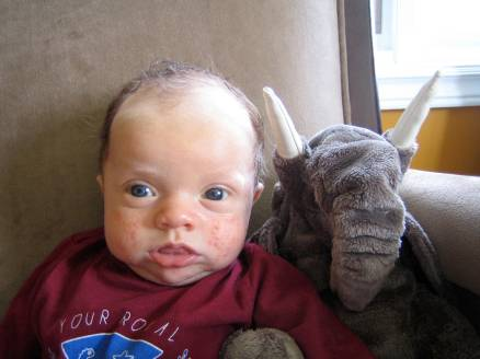 Ugly Baby with Elephant Stuffed Animal