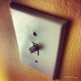 Look at our incredibly interesting light switch! Why am I doing this??