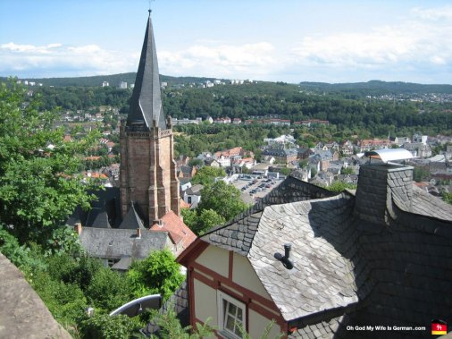 marburg-germany-cathedral-steeple-leaning