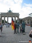 Again with the Brandenburger Tor, only this picture includes Germans dressed up like statues. Or something.