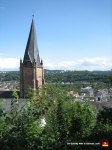 This is the crooked steeple of the St. Marien Church. Where's your superior German engineering now? Huh?