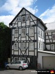 Half-timbered house. They're charming as hell, and apparently irresistible as photo opportunities.
