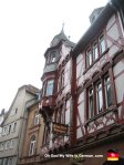 This is a half-timbered house, which you will see absolutely everywhere in Marburg. And I can promise you will be sick of seeing them in this photo album today.