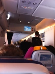 This was my view aboard that sweet, sweet Lufthansa flight. It was a long one, but MAN did they make it tolerable.