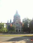 This is a terrible picture of Hannover's New Town Hall, also known as the Rathaus. Generally, my iPhone does a great job of balancing light and shadow, but not this time. This looks like the onset of nuclear winter.