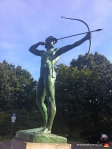 This is the Archer, a bronze sculpture at the corner of the New Town Hall. His arrow is pointed directly at the mayor's office (I'm serious), begging the question, just how effectively Mayor Stephan Weil can perform on the job with a sharpened projectile aimed at his balding German pate.
