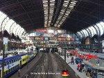 Inside the Hamburg train station