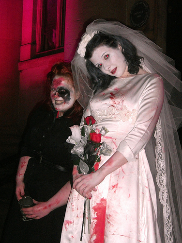 dead ghost undead bride costume for halloween