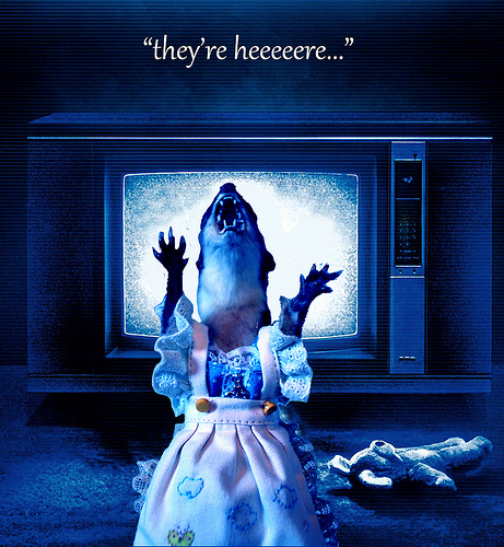 "poltergeist parody movie poster ""they're heeeere..."""