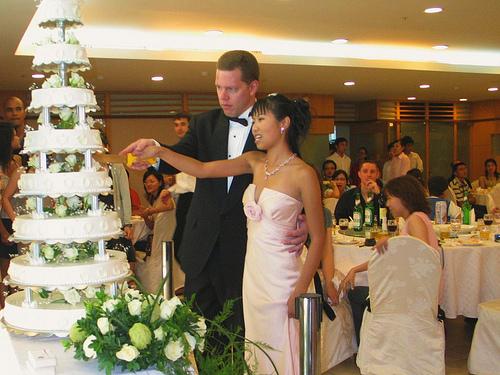 Traditional german wedding cake
