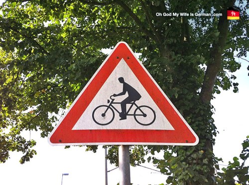bike cyclist sign caution germany