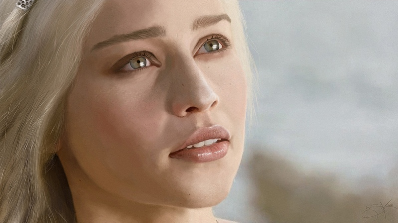 Digital Painting: Daenerys Targaryen - A Game of Thrones