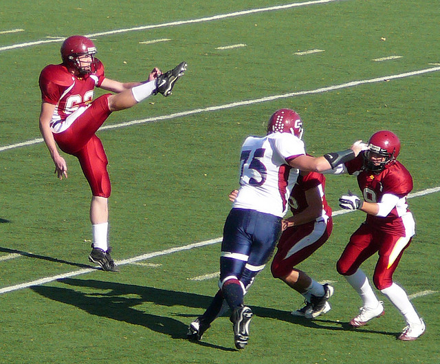 football punt, kick, field goal