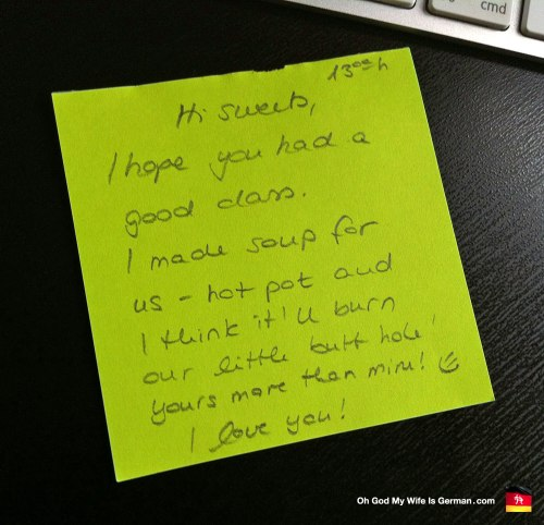 hilarious note from wife to husband