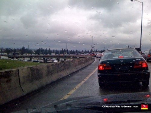 Traffic on Interstate 84 in NE Portland, Oregon