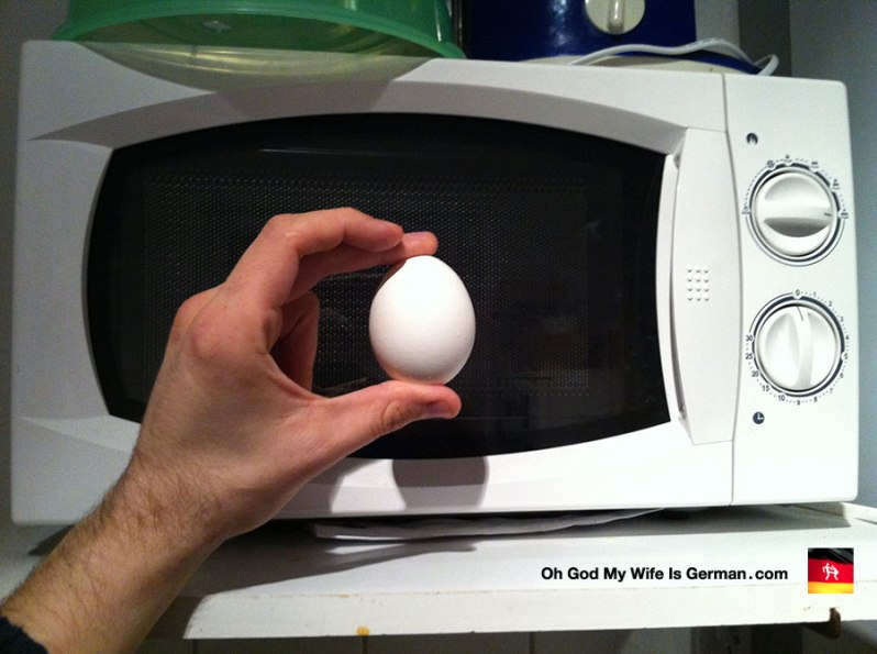 reheating a hard boiled egg in the microwave