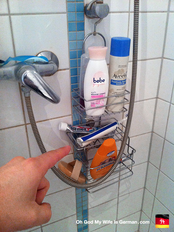 My German Wife Buys A New Shower Caddy For Our Bathroom U2013 Oh God, My Wife  Is German.