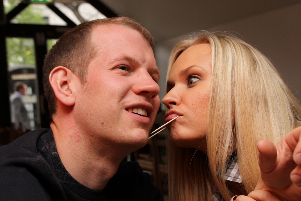 German student couple at home 3