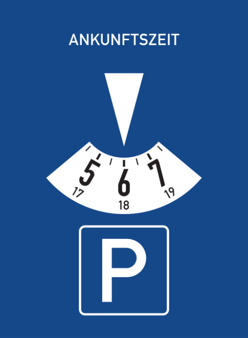 German-Parking-Disc-Parkuhr