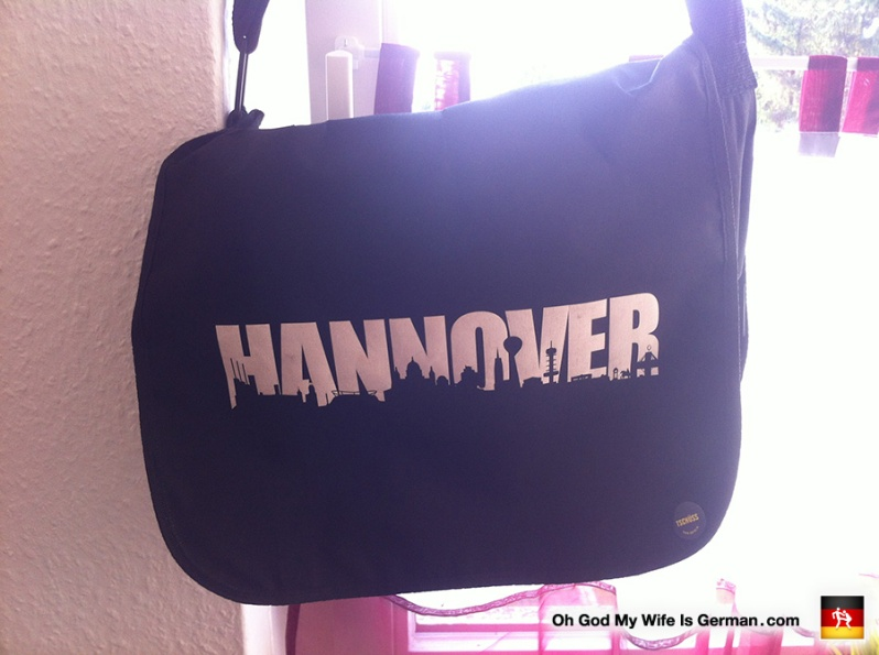 Hannover-Germany-Messenger-Bag-Black