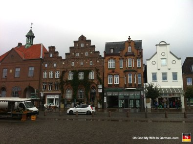 You'll find this kind of architecture all over northern Germany. Especially those building facades with the square steps on the sides.