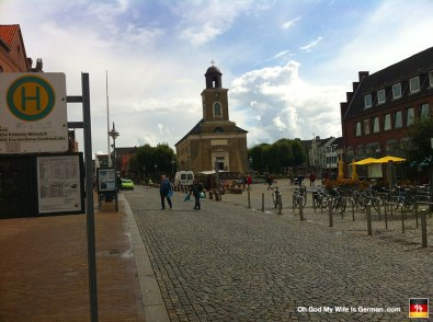 There's the belltower in downtown Husum. Just a 24-hour party up here...