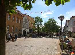 Downtown Sonderborg. I was surprised to find not everyone was blonde, as I'd been led to believe.