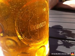 Tuborg beer. Made in Denmark.