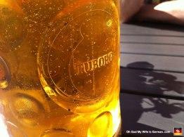 Tuborg beer. Made in Denmark.