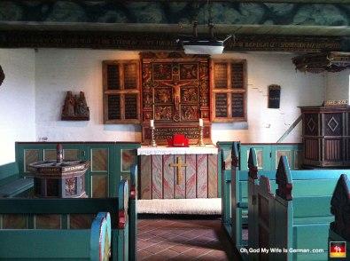Inside the Grode church.