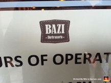 Here's another brewery along the way -- this one called Bazi. They had one hell of a Belgian beer menu, which I ignored entirely. (I'm an amber man. To me, Belgian yeast tastes like apricots and horse piss.)