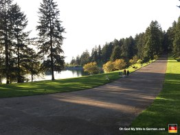 Mt. Tabor is pretty sweet. That water you're seeing is actually a reservoir, and it feeds directly into Portland's water faucets. (Which is kind of scary, since it's completely open and exposed...)