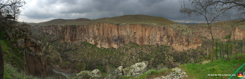 This is the Aksaray Canyon in the Ihlara Valley of Cappadocia. (I'd never heard of it either.)