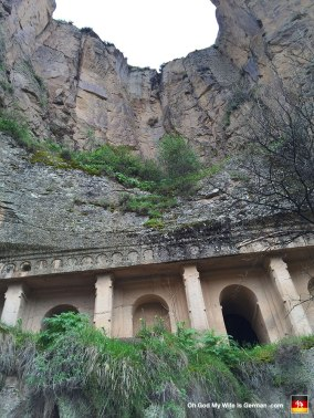 Here is a Christian church carved into the side of the canyon wall. (I guess Christians used to do a lot of hiding in caves back before people stopped killing them for their religious beliefs.)