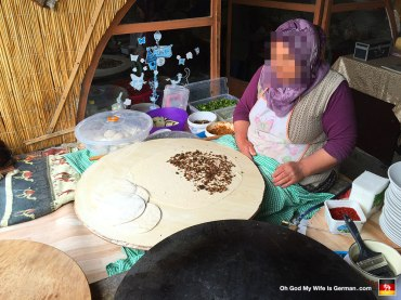 This woman made the BEST kebabs EVER. Also, she had massive hoots. I think she was storing watermelons in those things.