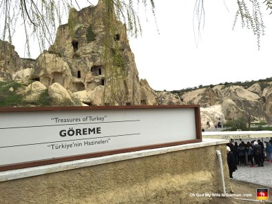 "Here's the entrance to Goreme National Park, which most people think of simply as ""Cappadocia."" Holy tits was it COLD that day..."