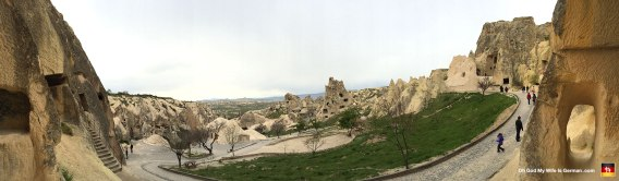 Surprise! Another panorama of the Cappadocia rock caves. (Why do I keep posting these?)
