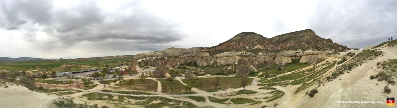 Here are the Ürgüp Fairy Chimneys on the other side of Cappadocia. Look closer at the next couple slides...