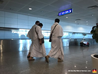Hello again, Istanbul Airport. Wait, what's with the bathrobes, you guys?