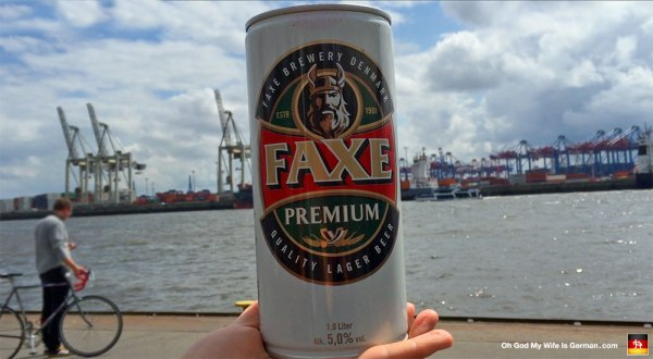 Hamburg-Germany-Harbor-with-Faxe-Beer