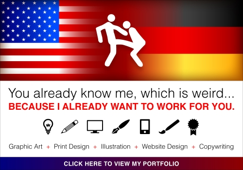 Graphic Designer in Portland, Oregon and Hannover, Germany - Grafikdesigner Illustrator Copywriter