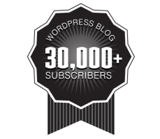 Over 30,000 WordPress Followers Ribbon