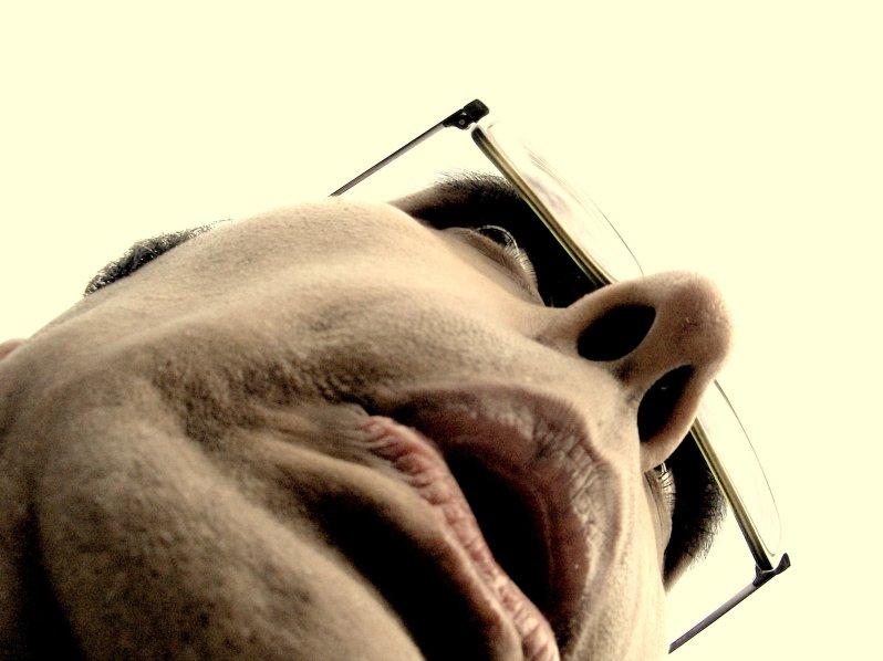 Scary Horrified German Man